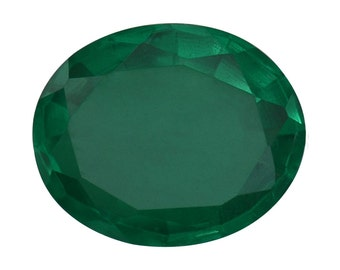 Emerald Quartz Triplet Oval Cut Loose Gemstone 1A Quality 12x10mm TGW 4.50 cts.