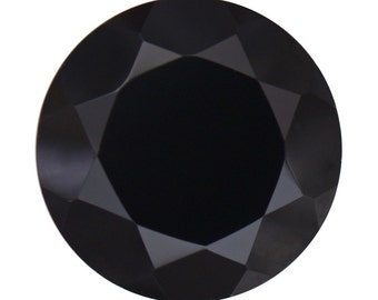 Thai Black Spinel Round Cut Loose Gemstone 1A Quality 11mm TGW 5.60 cts.