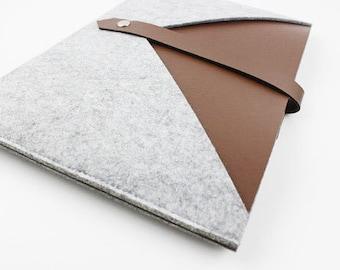 Felt leather Macbook 15 pro retina sleeve, Macbook 15 pro retina case, Macbook Pro retina case, 15 inch Macbook case, macbook case SJ508