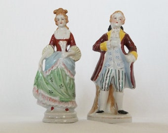 Renaissance Figurines - Pair of Renassaince Figurines - Man and Woman Figurines