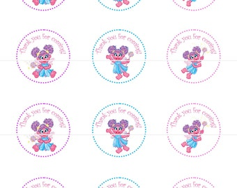 Abby Cadabby Sesame Street Birthday Party Tags Cupcake Toppers DIY Printable File