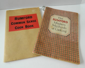 Rumford cook books-1920-1930