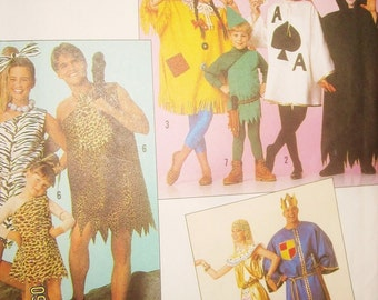 EZ Sew Simplicity Caveman, playing Cards, robin Hood Pricess King