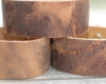 "1"" Wholesale Vintage leather Bracelet - Cuff Wristband - One cuff-Water Buffalo"