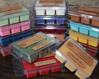 Fun & Fruity Scents ~ Maple Creek Candles ~ Wax Melts 6pk ~ Great Scent Throw ~ Soy Wax Blend ~ Choose a Scent