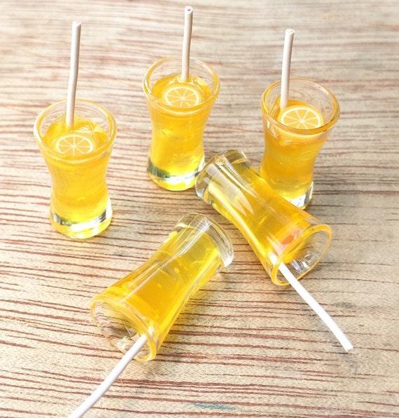 1/2pcs.Miniature Orange Juice, Miniature Fruit Juice,Miniature Juice,Miniature Beverage ,Miniature drink,Dollhouse orange juice,DIY
