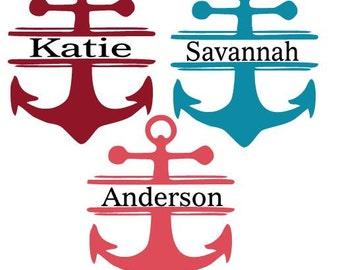 Anchor Decal with Name