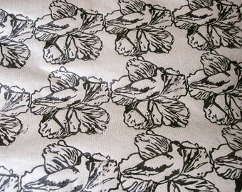 Hand printed wrapping paper, Brown wrapping paper, Craft wrapping paper, Gift wrap, Avocet and lily wrapping paper, Avocet and lily paper