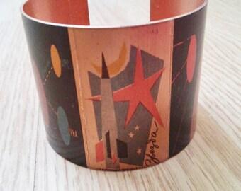Russian Space Image Cuff Bracelet