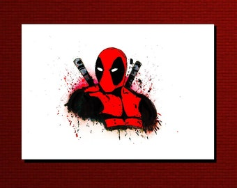 Deadpool Greetings card