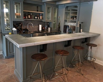 Custom Zinc Bar / Counter Top