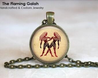 GEMINI Zodiac Pendant • June Star Sign • Gemini Star Sign • Gemini Astrology • Gift for Her • Gift Under 20 • Made in Australia (P0396)