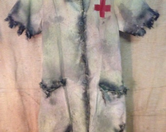 Zombie costume walking dead halloween haunted house nurse silent hill realistic