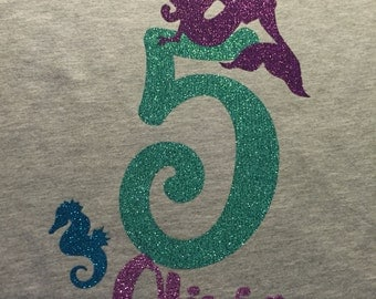 Mermaid birthsay shirt