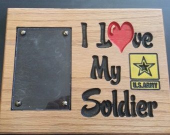 I Love My Soldier Picture Holder - Free Shipping