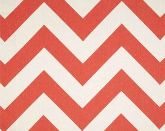 READY TO SHIP Throw Pillow Cover - Coral Large Chevron