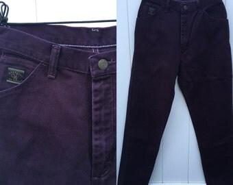 "Vintage Eggplant Purple ""Wrangler for Women"" Denim Jeans 8 x 32"