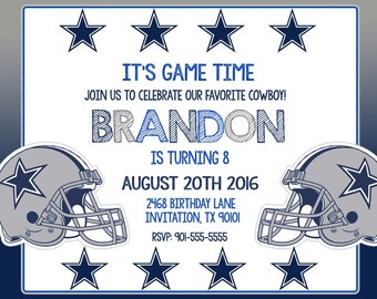 Free Printable Dallas Cowboys Baby Shower Invitations Best
