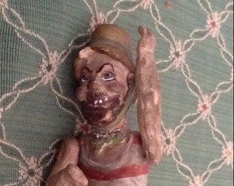 Antique Sailor Doll Looking Garishly Unusual
