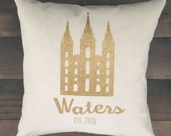LDS Temple Pillows Customized