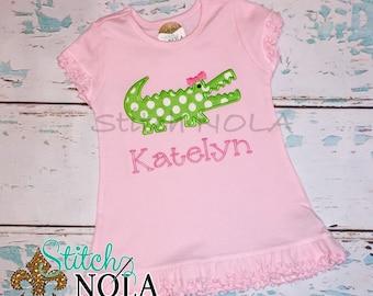 Summer Dress with Alligator Applique