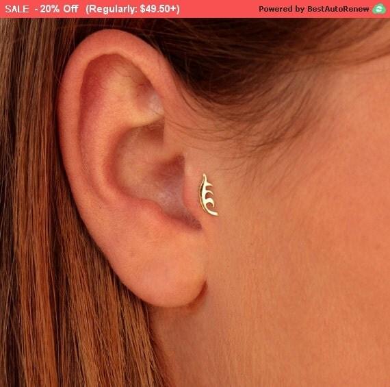 sale20 or tragus boucles d 39 oreilles boucles d 39 oreilles par alagia. Black Bedroom Furniture Sets. Home Design Ideas
