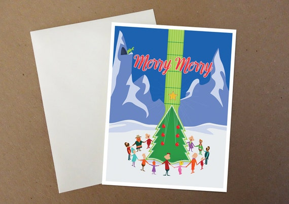 Grinch Guitar Tree Christmas Card
