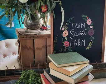Farm Sweet Farm- Decorative Chalkboard/ Memo Board  {HOME DECOR}