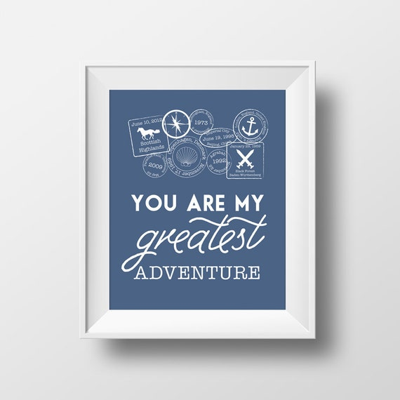 Disney Quote Art Print You Are My Greatest Adventure The