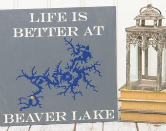 Lake House Decor - Lake House Signs - Lake House Art - Lake House Decorations - Lake House Family Sign - Family Name Sign - Family Lake