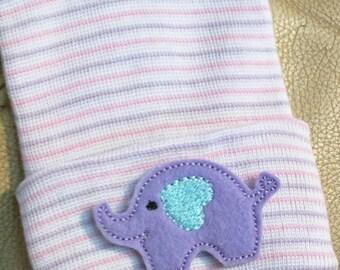 Elephant Newborn Hospital Hat! 1st Keepsake! 1st Hat! Newborn Hospital Hat! Great Gift! Super Cute! Great Photo Prop Too For Baby Girl