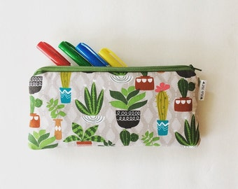 Succulent & Cactus Pencil Case - Planner Bag