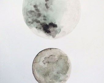 Watercolour Moon Original
