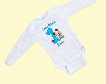Baby's First Birthday Long Sleeve Onesie, Personalized