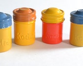 Vintage Film Cans / Canisters / Containers x4 Kodak