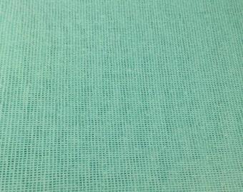 "Mint Green Burlap Jute Hessian Fabric 34"" By the Yard Jute 100% Natural Turquoise"