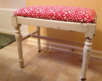 Small upholstered bench