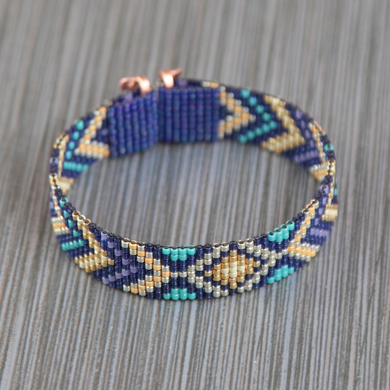 buried treasure bead loom bracelet bohemian boho artisanal