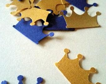 royal prince baby shower blue and gold crown prince confetti birthday crown prince