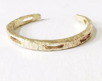 Aurora Brass Cut Out Cuff