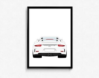 Porsche 911 GT3 A3 Print