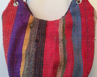 Vibrant Silk Hobo Bag
