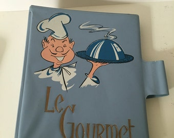 "Amazing vintage ""Le Gourmet"" accordion recipe holder! Shipping included in price!"