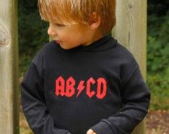 Cool AB/CD Rock Baby & Toddler Hoodie / Rock n Roll Kids Clothes Boys or Girls
