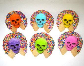 100 DAY Of The Dead Fortune Cookies, Sugar Skulls, Dia de los Muertos Skulls, Dia de los Angelitos Skulls, Dia de los Difuntos, Halloween