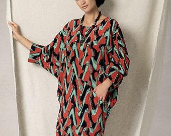Vogue Sewing Pattern V1482 Misses' Batwing/Dolman-Sleeve Dress
