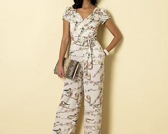Butterick Sewing Pattern B6320 Misses' Sweetheart-Neckline Dress and Jumpsuits