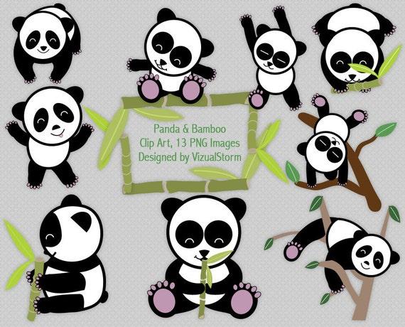 Cute Panda Bear Clip Art for Children digital by VizualStorm
