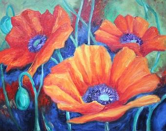 Poppy Original Oil Art