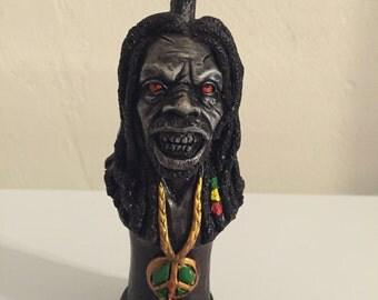 Tobacco Hand Made Pipe, Rasta Zombie Man Design